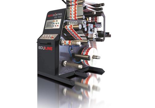 The ROTOCONTROL ECOLINE RSI-340 designed for inspection and slitting of printed labels