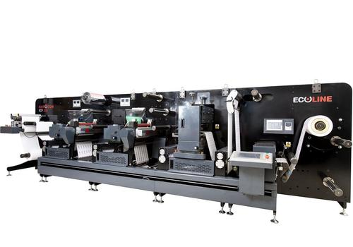 Ecoline RDF 330 digital printed label converting and finishing system